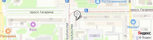 Аквилон на карте Прокопьевска