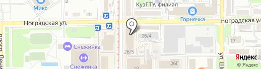 Салон автозвука и автосигнализации на карте Прокопьевска