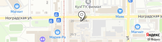 Пивточка на карте Прокопьевска