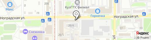 Дёнер на карте Прокопьевска