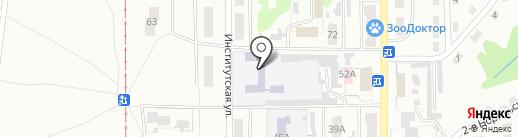 Средняя общеобразовательная школа №35 на карте Прокопьевска