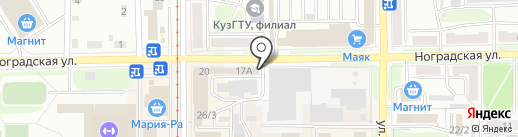 Автор на карте Прокопьевска