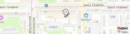 Городская поликлиника на карте Прокопьевска