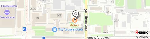 Нефертити на карте Прокопьевска