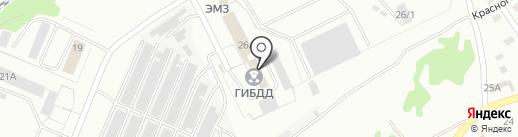 ГИБДД отдела МВД по г. Прокопьевску на карте Прокопьевска