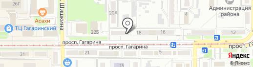 Алга на карте Прокопьевска