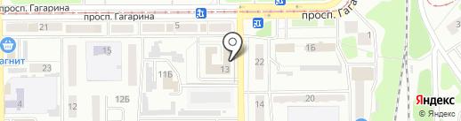 Управление культуры Прокопьевского муниципального района на карте Прокопьевска
