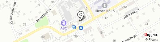 Кафе-закусочная на карте Киселёвска