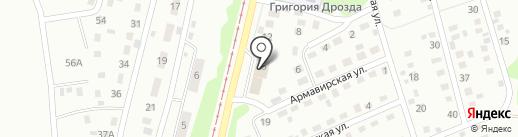 Перекресток на карте Прокопьевска