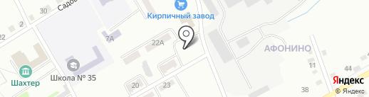 Мясье на карте Киселёвска