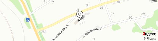 Крестьянский на карте Киселёвска