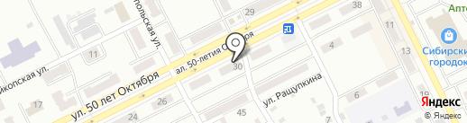 Жилфонд на карте Киселёвска