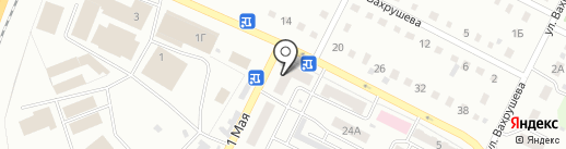 Бибика на карте Киселёвска