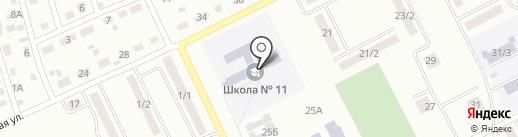Средняя общеобразовательная школа №11 на карте Киселёвска