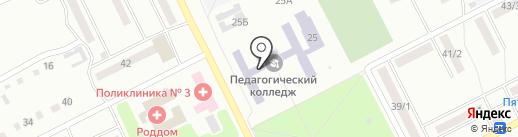 Киселёвский педагогический колледж на карте Киселёвска