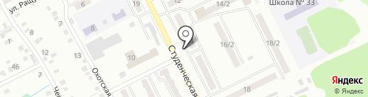 Киоск по продаже хлебобулочных изделий на карте Киселёвска