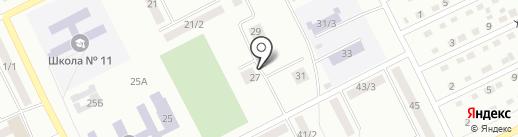 Луч на карте Киселёвска