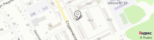 Спортивный зал на карте Киселёвска