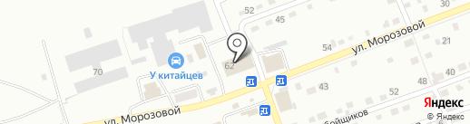 Шахтеров на карте Прокопьевска