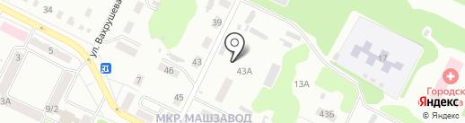 Банно-прачечное хозяйство, МП на карте Киселёвска