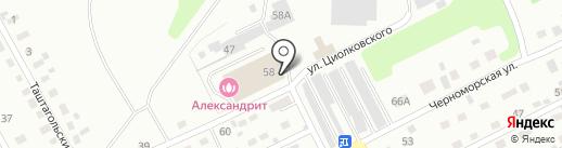 Александрит на карте Киселёвска