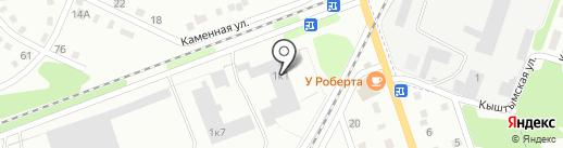 Триплекс на карте Киселёвска