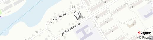Шиномонтажная мастерская на ул. Багартиона на карте Киселёвска