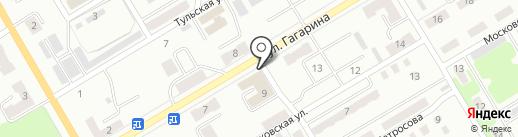 Катюша на карте Киселёвска