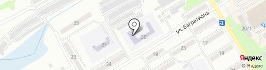 Средняя общеобразовательная школа №25 на карте Киселёвска