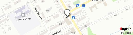 Замкофф на карте Киселёвска