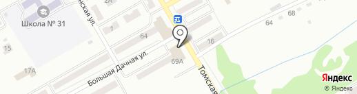 Банкомат, Банк Уралсиб, ПАО на карте Киселёвска
