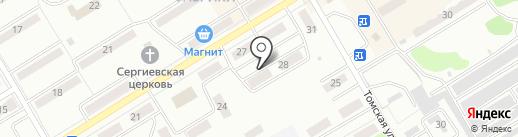 Киселёвская похоронная служба на карте Киселёвска