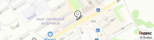 Киоск по продаже печатной продукции на карте Киселёвска