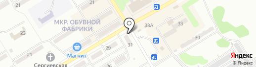 Магазин тканей на карте Киселёвска