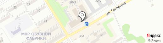 Базармания на карте Киселёвска