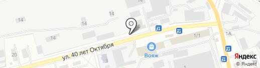 Огонек на карте Прокопьевска