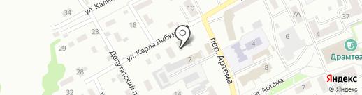 Зенковский районный суд г. Прокопьевска на карте Прокопьевска