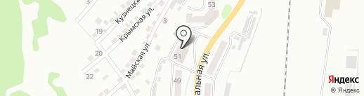 Андреич на карте Прокопьевска