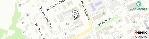 Водоканал на карте Прокопьевска