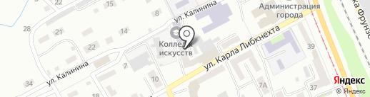 Харон на карте Прокопьевска