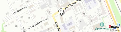 Центральный районный суд г. Прокопьевска на карте Прокопьевска