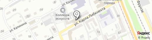 Магазин обоев и лакокрасочных материалов на карте Прокопьевска