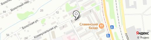 Голубая лагуна на карте Прокопьевска