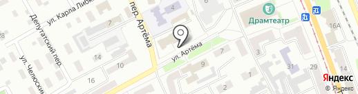 Дворец детского творчества им. Ю.А. Гагарина на карте Прокопьевска