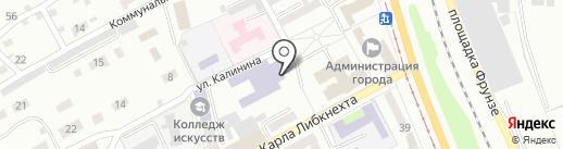 Детская музыкальная школа №10 на карте Прокопьевска