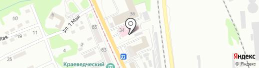 Скорая медицинская помощь на карте Прокопьевска