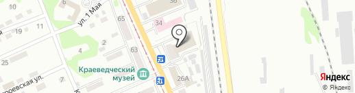 Управление по делам ГО и ЧС г. Прокопьевска на карте Прокопьевска