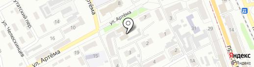 Прокопьевский городской Совет народных депутатов на карте Прокопьевска