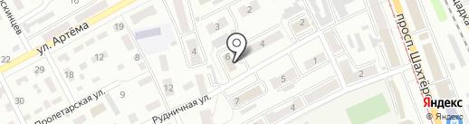 Служба единого заказчика, МУП на карте Прокопьевска