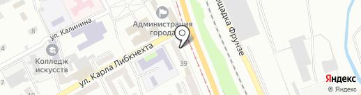 Морозов А.П. на карте Прокопьевска
